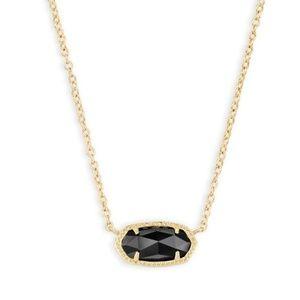 Gold and Black Elisa Kendra Scott Necklace